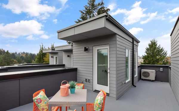 Rooftop Deck at 10843 11th Ave NE, One of the Lily Townhomes in Maple Leaf