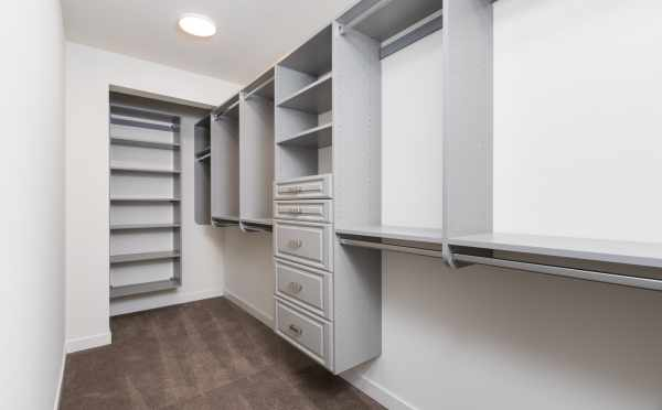 Shelving System in the Master Closet at 11514B NE 87th St
