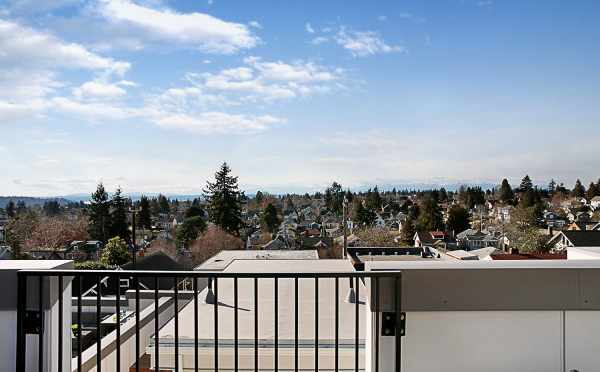 View from the Rooftop Deck of 7528A 15th Ave NW, Townhome in Talta Ballard