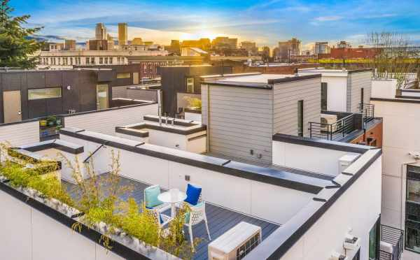 Aerial View of the Roof Deck at 418F 10th Ave E of Core 6.2 in Capitol Hill