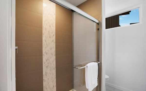 Custom Tile Work in the Master Bathroom Shower