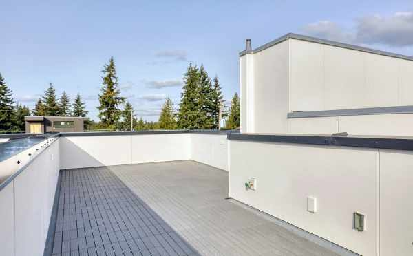 Rooftop Deck at 14339C Stone Ave N, One of the Maya Townhomes in Haller Lake