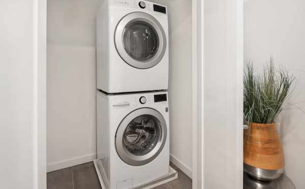 Washer and Dryer in Unit 408A at Oncore Townhomes in Capitol Hill