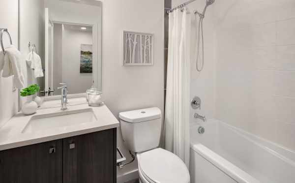 Second Bathroom in One of the Units of Oncore Townhomes