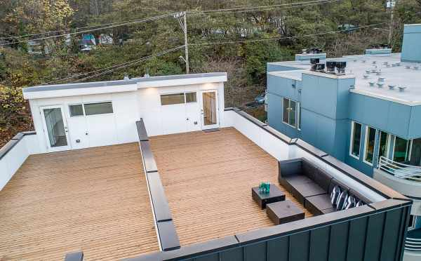 Rooftop Deck of One of the Twin II Duplexes at 2135 Dexter Ave N