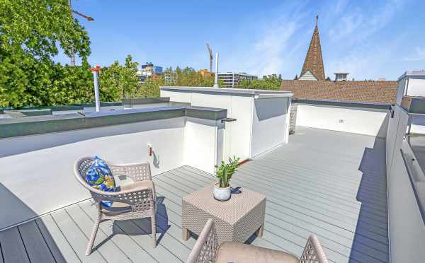 Rooftop  Deck at 1724B 11th Ave, One of the Wyn on 11th Townhomes in Capitol Hill