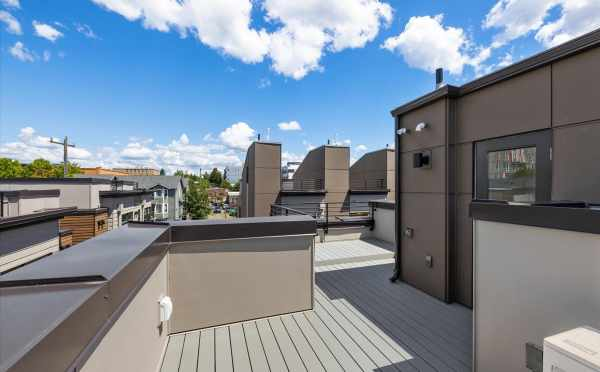 Rooftop Deck at 6313C 9th Ave NE at Zenith Towns West by Isola Homes