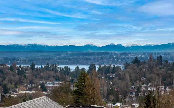 View of Lake Washington and the Mountains from the Roof Decks at 6 Central