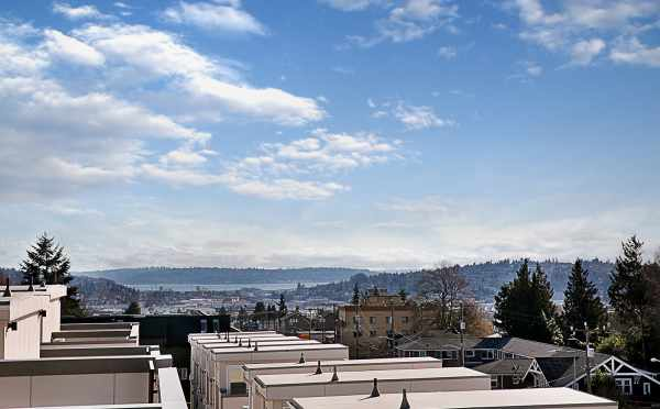 View of the Sound from the Roof Deck of 7528A 15th Ave NW, Townhome in Talta Ballard