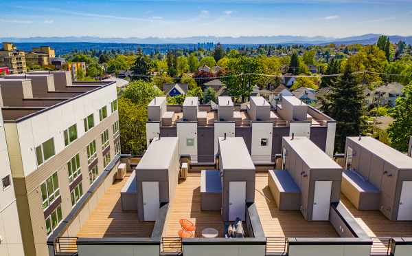 Aerial View of the Roof Decks at Avani Townhomes
