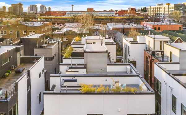 Aerial View of the Roof Decks at Core 6.2 in Capitol Hill