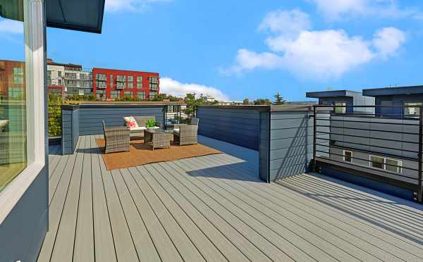 Roof Deck at the Single-Family Home at Lifa East