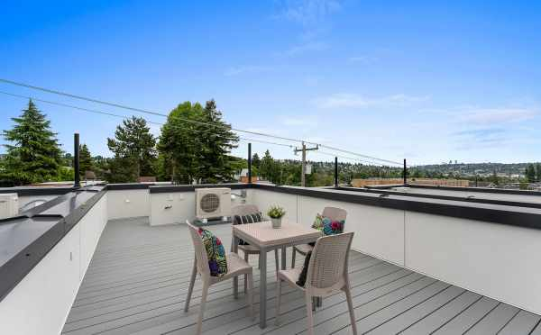 Rooftop Deck at 6415 14th Ave NW, One of the Oleana Townhomes by Isola Homes
