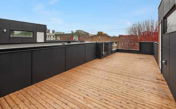 West-Facing View from the Rooftop Deck of Oncore Townhomes