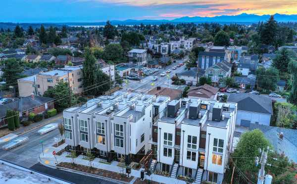 Aerial View of the Ryden Townhomes in Crown Hill