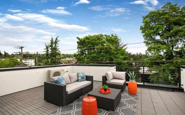 Roof Deck at 5111F Ravenna Ave NE