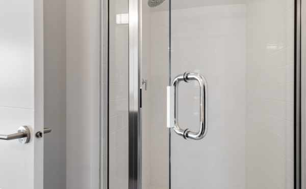 Shower in the Fourth-Floor Bathroom at 8569 Mary Ave NW at The Trondheim