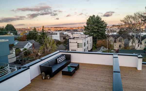 Seating Area on the Rooftop Deck of One of the Twin II Duplexes