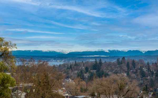 Partial View of Lake Washington from the Roof Decks at 6 Central by Isola Homes