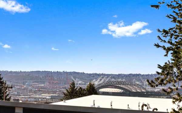 Views of the Stadium from the Rooftop Deck of 224 18th Ave