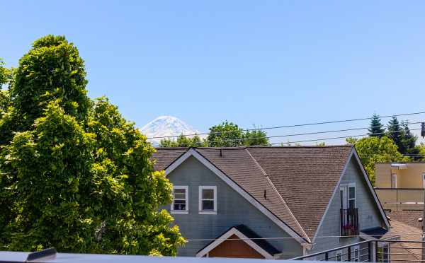 View of Mt Rainier from the Roof Deck of 212B 18th Ave