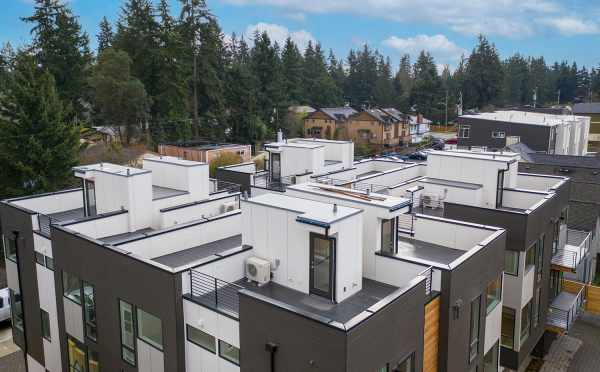 View of the Roof Decks at the Maya Townhomes in Haller Lake