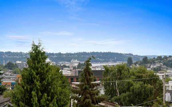 Views of the Sound and West Seattle from the Roof Deck at 6415 14th Ave NW