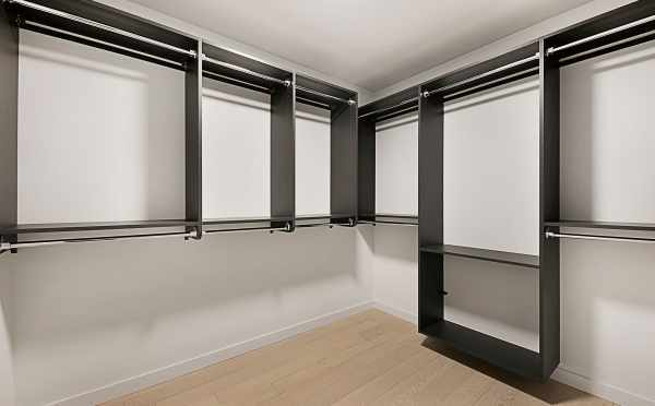 Shelving in the Master Closet of 2127 Dexter Ave N