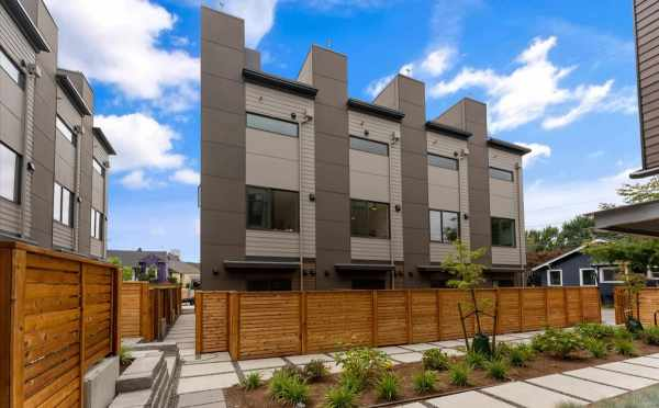 Back Patios at Zenith Towns South in Roosevelt by Isola Homes