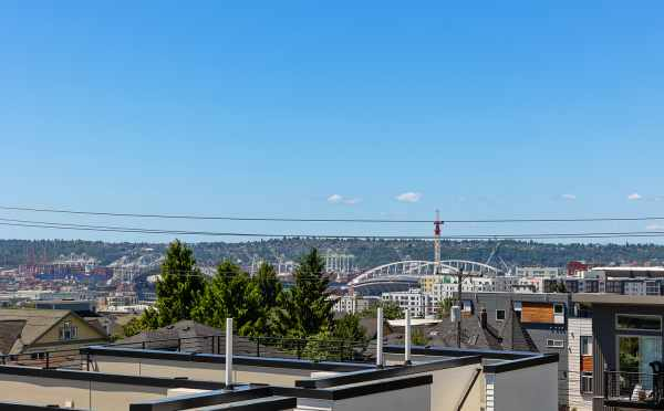 Stadium View from the Roof Deck of 212B 18th Ave in the Cabochon Collection
