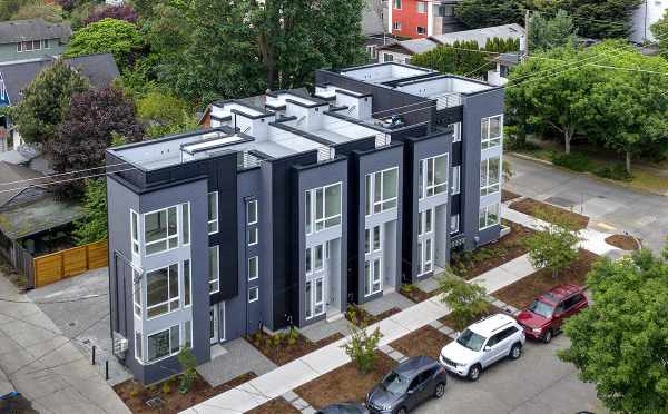 Aerial View of the Kai Townhomes Along 17th Ave NW