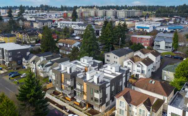 Aerial View of the Maya Townhomes