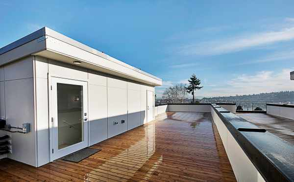 Rooftop Deck of the Northernmost Twin I Townhome on Dexter Ave N
