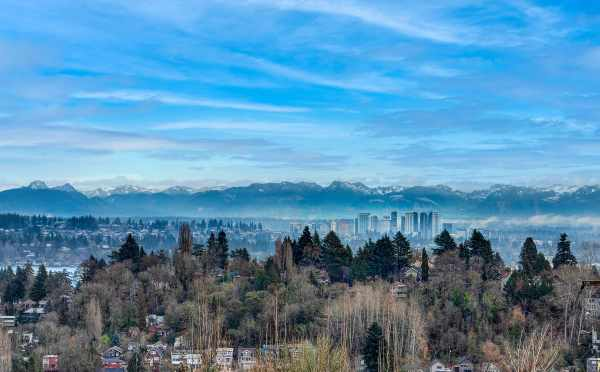 Views of Downtown Bellevue from the Roof Decks of the 6 Central Townwhomes