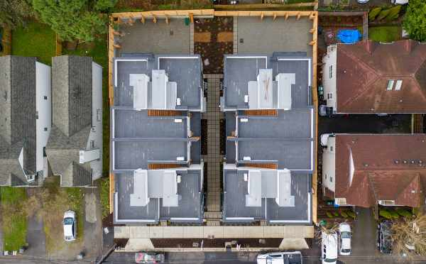 Overhead View of the Maya Townhomes