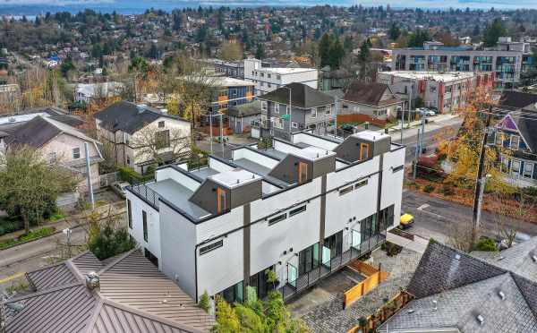 Aerial View of the Back of the 6 Central Townhomes