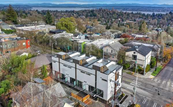 Aerial View of the 6 Central Townhomes