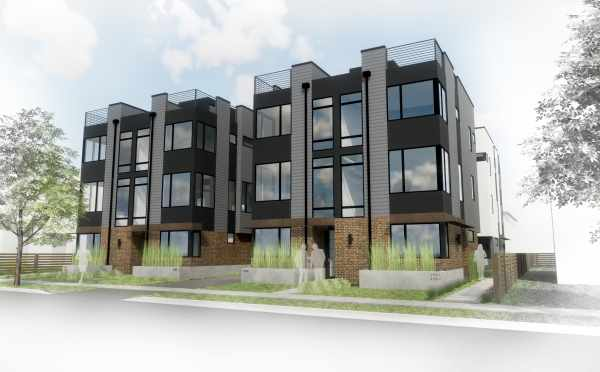 Rendering of Oncore Townhomes in Capitol Hill Seattle
