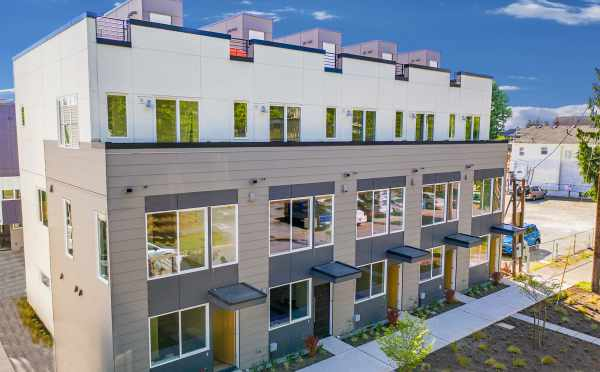 Front View of Avani Townhomes in Seattle by Isola Homes