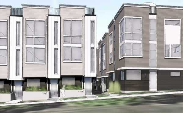 Rendering of Two of the Buildings at the Corazon Townhomes