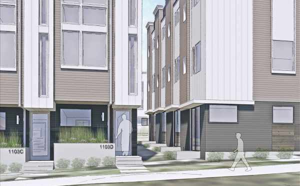 Close Up Rendering of the Corazon Townhomes