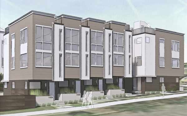 Rendering of the Corazon Townhomes in Capitol Hill