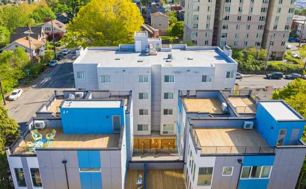 View of the Rooftop Decks at Hawk's Nest Townhomes in North Beacon Hill