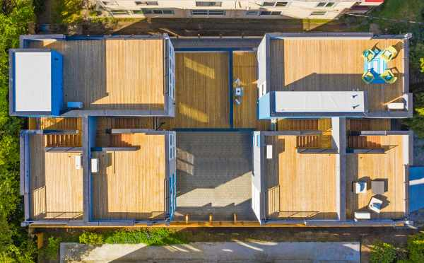 Overhead View of Hawk's Nest Townhomes Located in North Beacon Hill