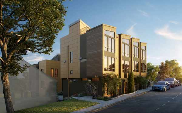 Rendering of the Lochlan Townhomes, by Isola Homes, Coming Soon to Magnolia