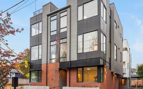 Exterior of the New Oncore Townhomes Located in the Capitol Hill Neighborhood of Seattle