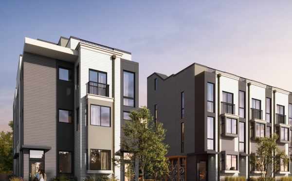Rendering of the Baker Townhomes in The Peaks at Phinney Ridge, New Townhomes by Isola Homes