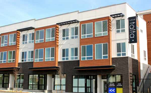 Exterior of Talta Townhomes in Ballard