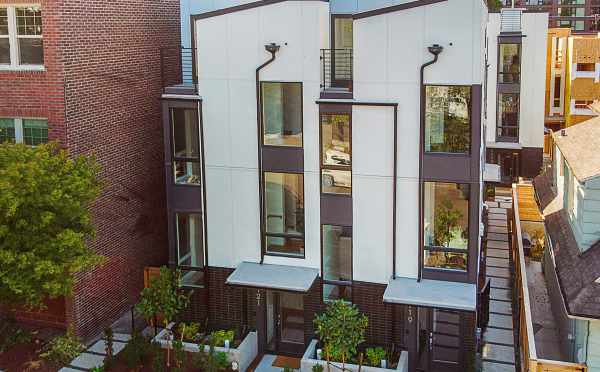 Exterior of The Wyn Townhomes at 1121 E Howell St in Capitol Hill