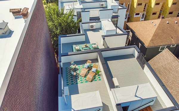 Aerial View of the Roof Decks of The Wyn Townhomes